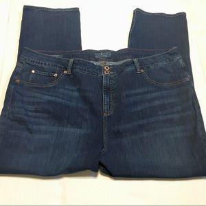 Lucky Brand dark wash straight fit jeans